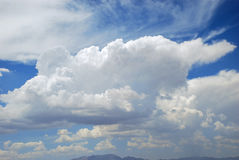 Cumulonimbus cloud formation over Las Vegas, Nevada. Image shows cumulonimbus cloud formation over Las Vegas, Nevada Royalty Free Stock Image