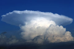 Cumulonimbus thunderstorm cloud stock image