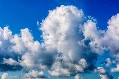 Cumulonimbus thunderstorm clouds over blue sky Royalty Free Stock Photos
