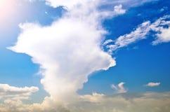 Cumulonimbusmolnet med en suddig överkant - behöv, plocka svamp Royaltyfri Bild