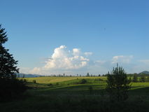 Cumulous on Idaho Landscape. An Idaho landscape with cumulous clouds in the summer time Royalty Free Stock Images