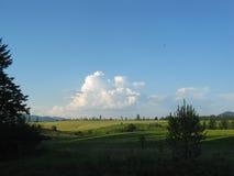 Cumulous sul paesaggio dell'Idaho immagini stock libere da diritti