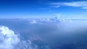 Cumulus chmur zamknięty up widok Zdjęcia Royalty Free