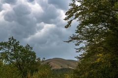 Cumulus chmury fotografia stock