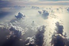 Cumulus chmury i morze Zdjęcia Royalty Free