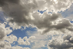 Cumulus and Cirrus clouds Royalty Free Stock Images