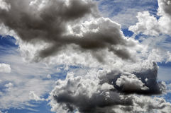 Cumulus and Cirrus clouds Royalty Free Stock Photos