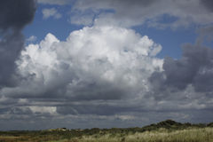 Cumulus cloud. Big cumulus cloud above a Dutch landscape Stock Image