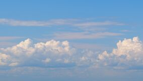 Cumulus cloud cloudscape. Concept of average cloudiness in meteorology.