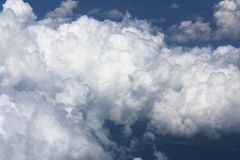 Cumulus cloud formation Stock Images