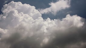 Cumulus cloud growth. White soft puffy clouds growth on the sky stock video
