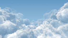 Cumulus Cloud Masses stock video footage