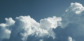 Cumulus cloud. Panorama. Cumulus clouds. Panoram, banner, large format royalty free stock photography