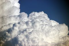 Cumulus cloud, photo. Weather, atmosphere themed background. Royalty Free Stock Image