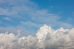Cumulus clouds Stock Image