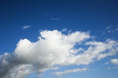 Cumulus clouds. Royalty Free Stock Image