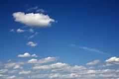 Cumulus clouds. Stock Photos