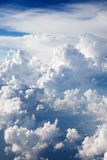 Cumulus Clouds. A dramatic cloudscape background with cumulus clouds royalty free stock photo