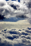 Cumulus clouds. Bank of stormy looking cumulus clouds in the distance Stock Photo