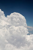 Cumulus Clouds as Seen From Aeroplane Stock Photo