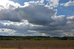 Cumulus clouds background Royalty Free Stock Photo