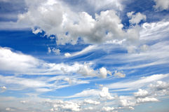 Cumulus clouds and a blue sky Royalty Free Stock Photography