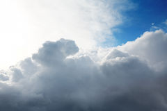 Cumulus clouds and the  blue sky Stock Image