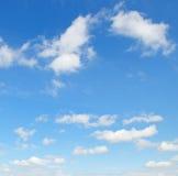 cumulus clouds in the blue sky Stock Photo