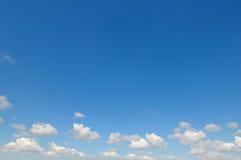 cumulus clouds in the blue sky Stock Image