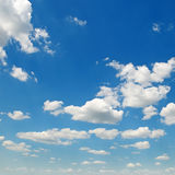 cumulus clouds in the blue sky Royalty Free Stock Image