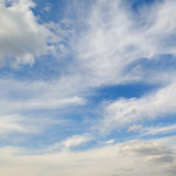 Cumulus clouds in the blue sky Stock Photography