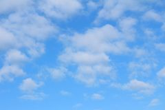 Cumulus clouds in the blue sky in the morning royalty free stock images