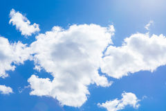 Cumulus clouds and blue sky Stock Image