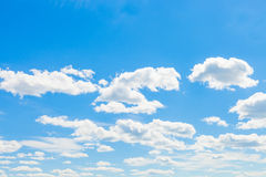 Cumulus clouds and blue sky - outdoors shoot Stock Photos