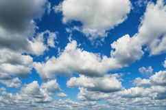 Cumulus Clouds on blue sky Royalty Free Stock Photos