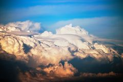 Cumulus clouds in the blue sky after a thunderstorm Stock Photo