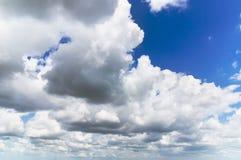 Cumulus clouds in blue sky Stock Image