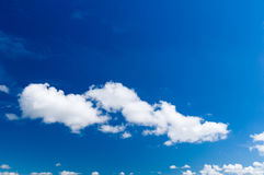 Cumulus clouds on blue sky Royalty Free Stock Images