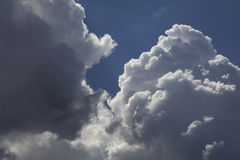 Cumulus clouds. A large Cumulus cloud on a blue sky background royalty free stock photography