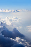 Cumulus Clouds Are Located At Different Heights. Stock Images