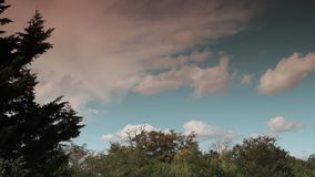 Cumulus clouds moving in the sky filmed in timelapse. Aude in occitanie, France stock video