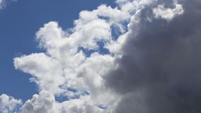 Cumulus clouds moving in sky in timelapse. Cumulus clouds moving in sky filmed in timelapse stock video