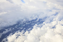 Cumulus clouds over the Atlantic Ocean Royalty Free Stock Photos