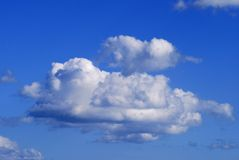 Cumulus clouds over Sussex. England Royalty Free Stock Images