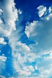 Cumulus clouds on a sky Royalty Free Stock Image