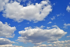 Cumulus clouds in sky Royalty Free Stock Photo