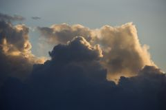 Cumulus clouds in sky. Royalty Free Stock Photos