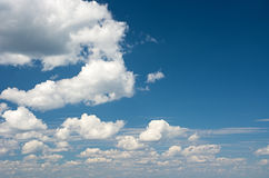 Cumulus clouds in the sky. Stock Photography