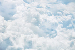 Cumulus clouds in the sky. Stock Photos