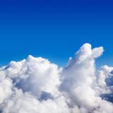 Cumulus clouds in the sky. Sunny day. Stock Photography
